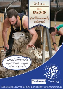 Techwool Sheepvention Trade Directory Ad 2017 85X120mm