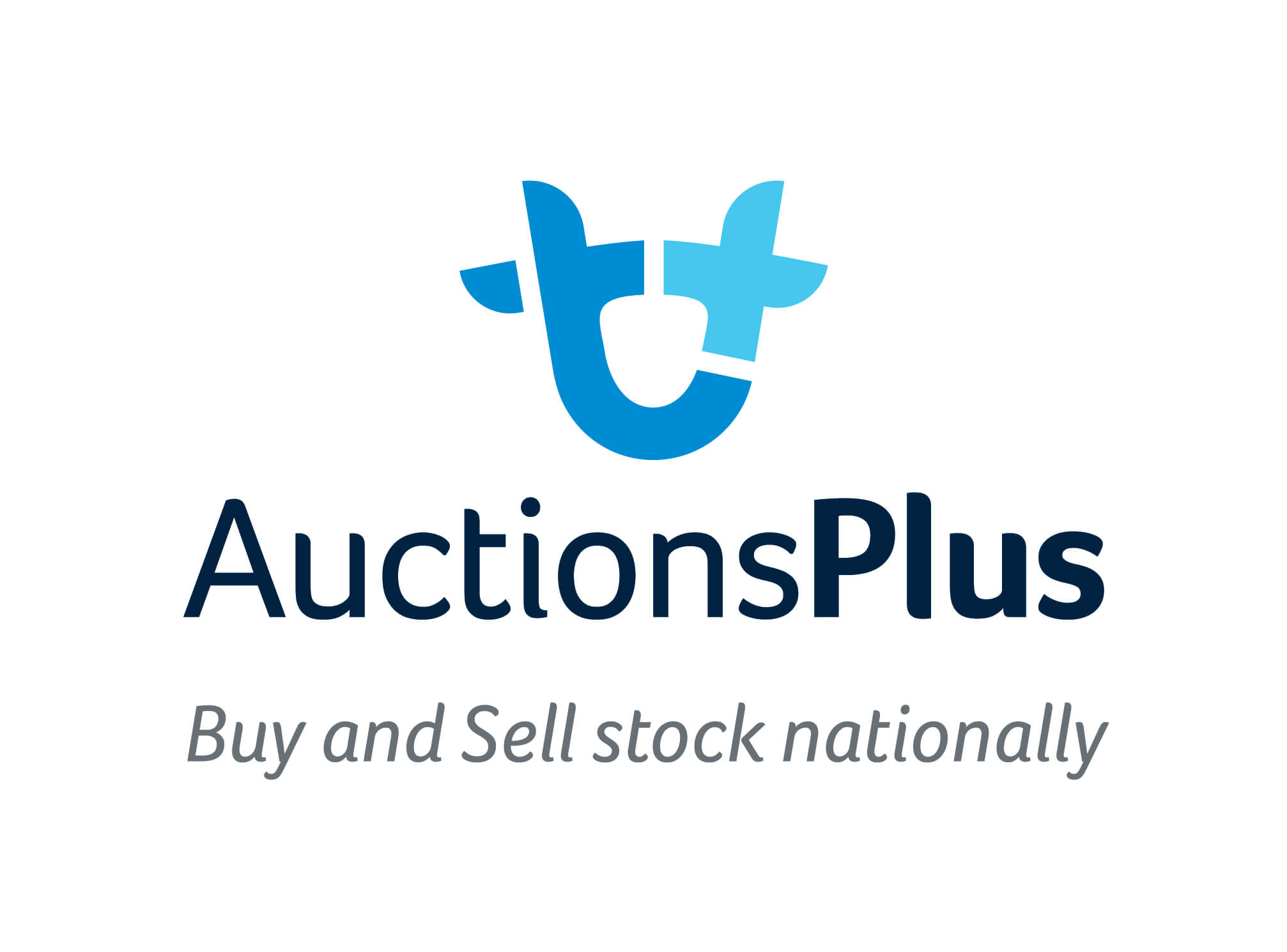 Auctions Plus Logo Stacked